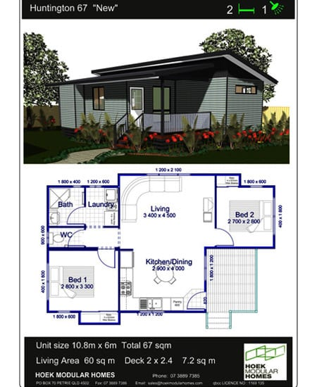 Hoek Modular Homes Recommended Home Designs Huntington 67 New