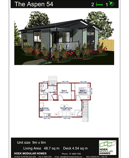 Hoek Modular Homes Recommended Home Designs Aspen 54