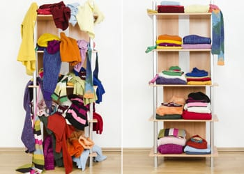 Decluttering Your Home Organising Clothes